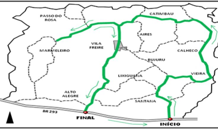 mapa interior Cerrito